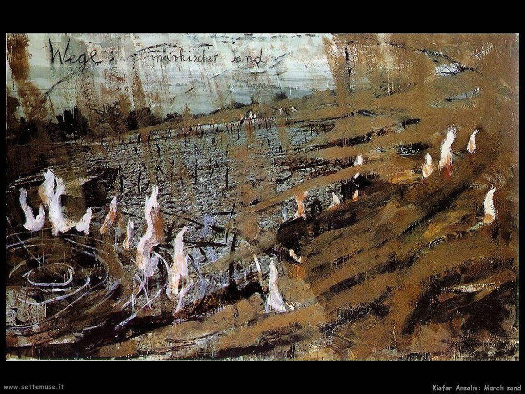 Kiefer Anselm March sand