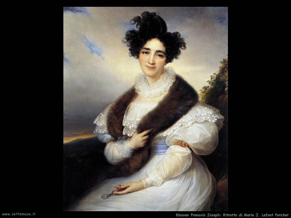 kinsoen francois joseph Ritratto di Marie J. Lafont Porcher