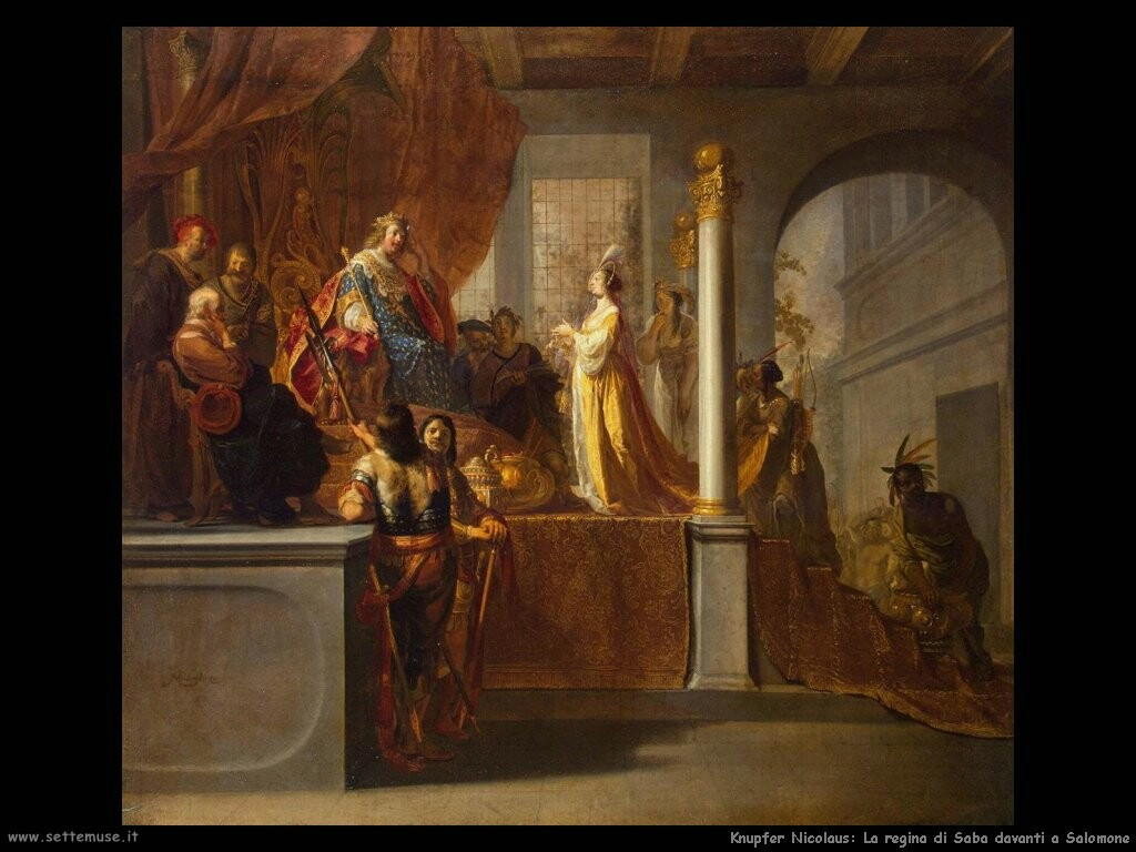 knupfer nicolaus La regina di Saba davanti a Salomone