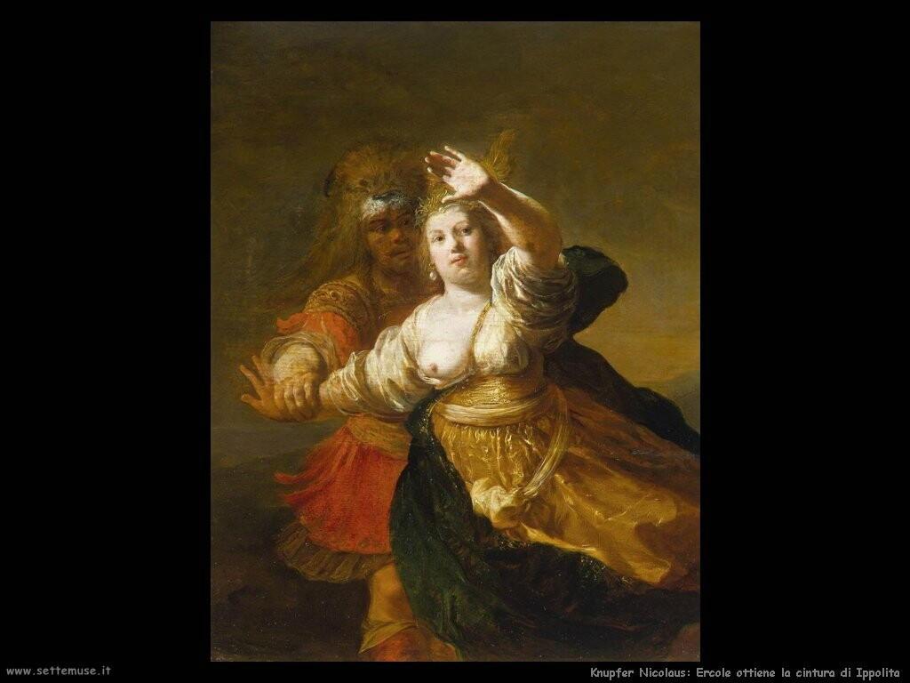 knupfer nicolaus Ercole ottiene la cintura di Ippolita