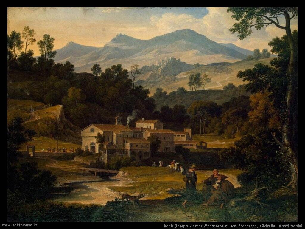koch joseph anton Monastero di san Francesco di Civitella, monti Sabini