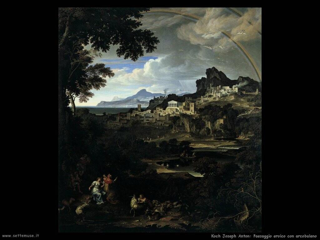 koch joseph anton Paesaggio eroico con arcobaleno