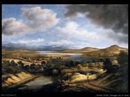 koninck philips Paesaggio panoramico con un fiume