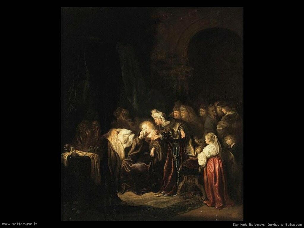 koninck salomon Davide e Betsabea