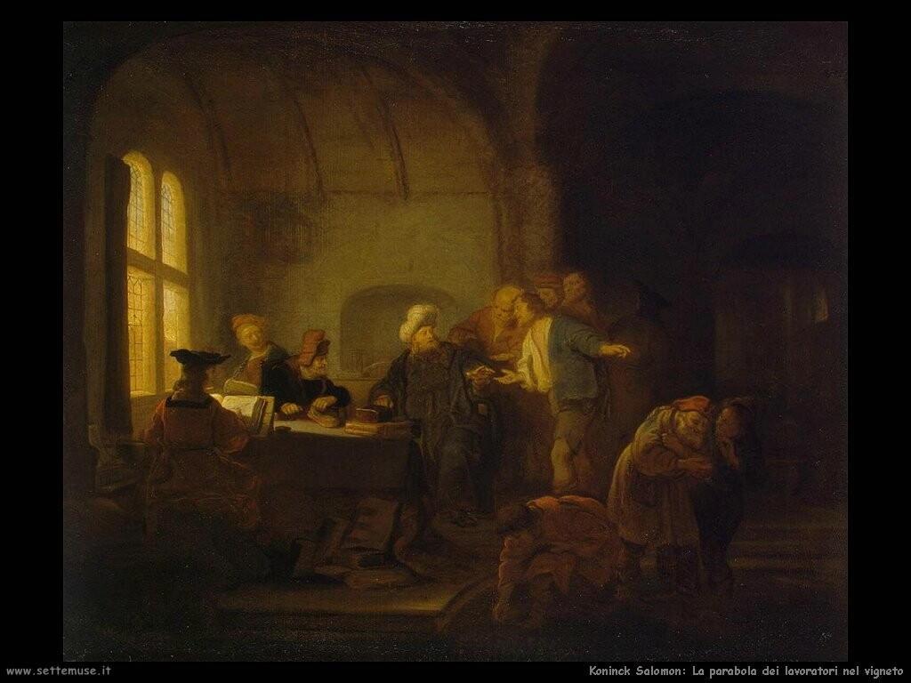 koninck salomon  Parabola dei lavoratori del vigneto