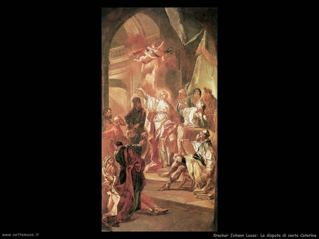 kracker johann lucas La disputa di santa Caterina