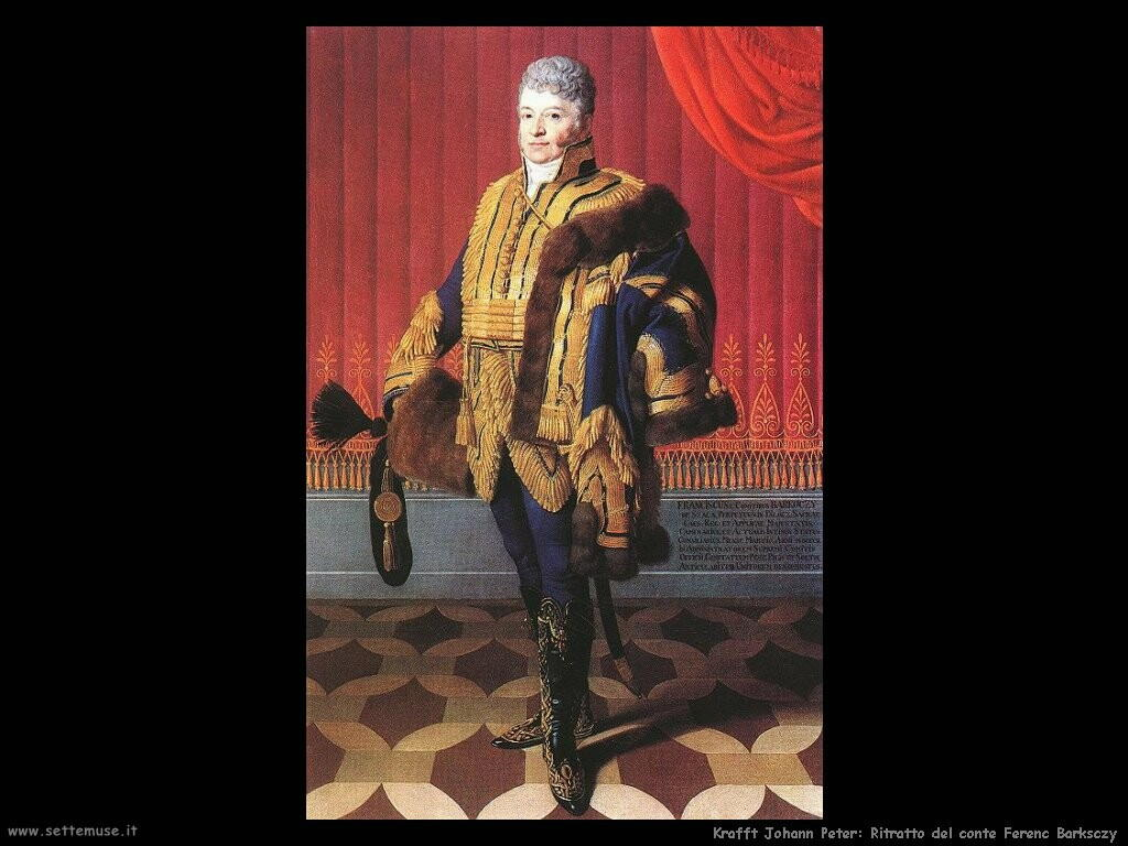 krafft johann peter Ritratto del conte Ferenc Barksczy
