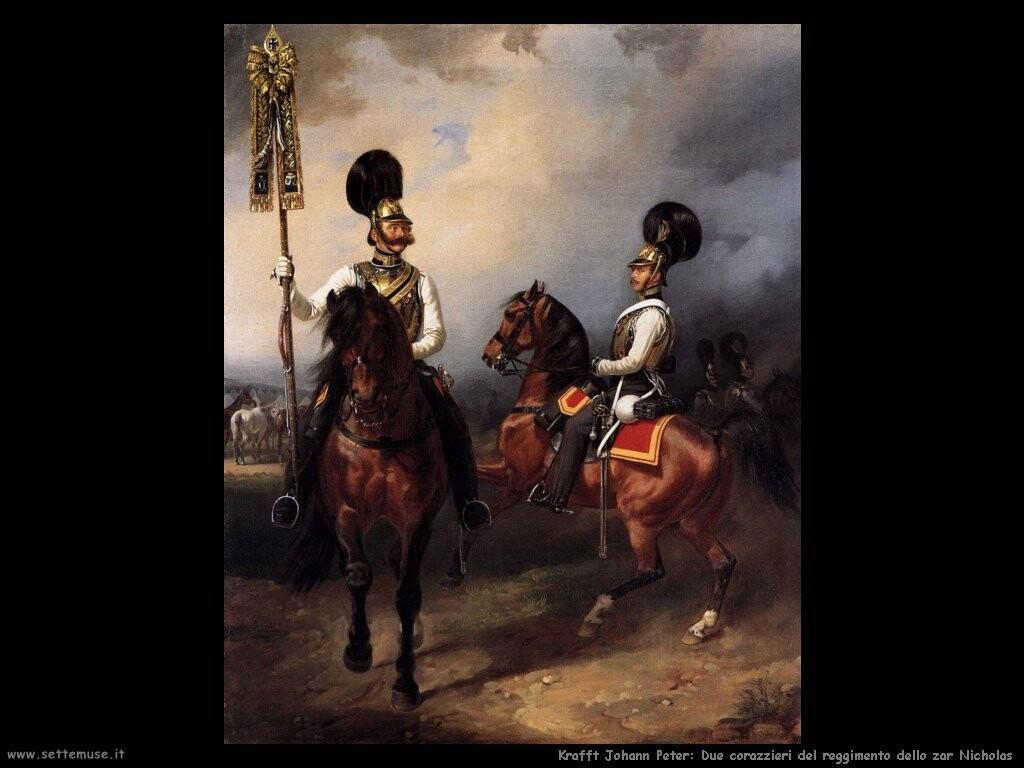 kruger franz Due corazzieri del reggimento dello zar Nicholas I