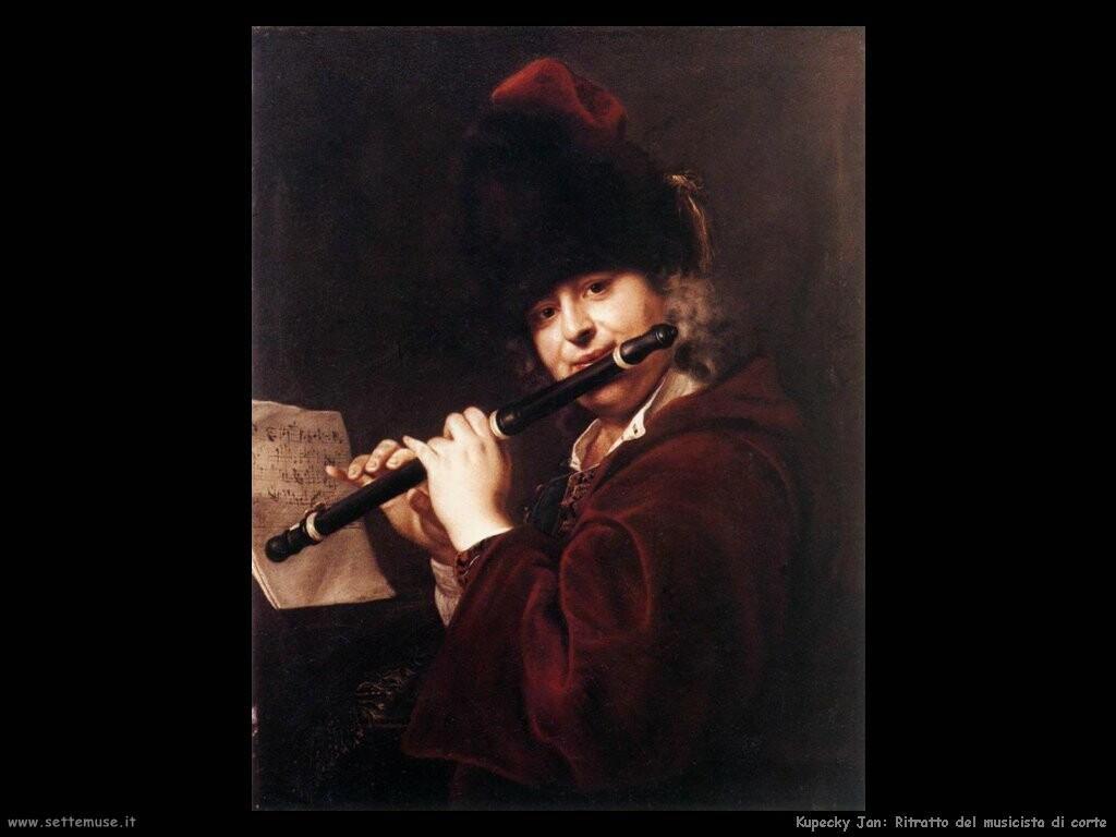 kupecky jan Ritratto del musicista di corte