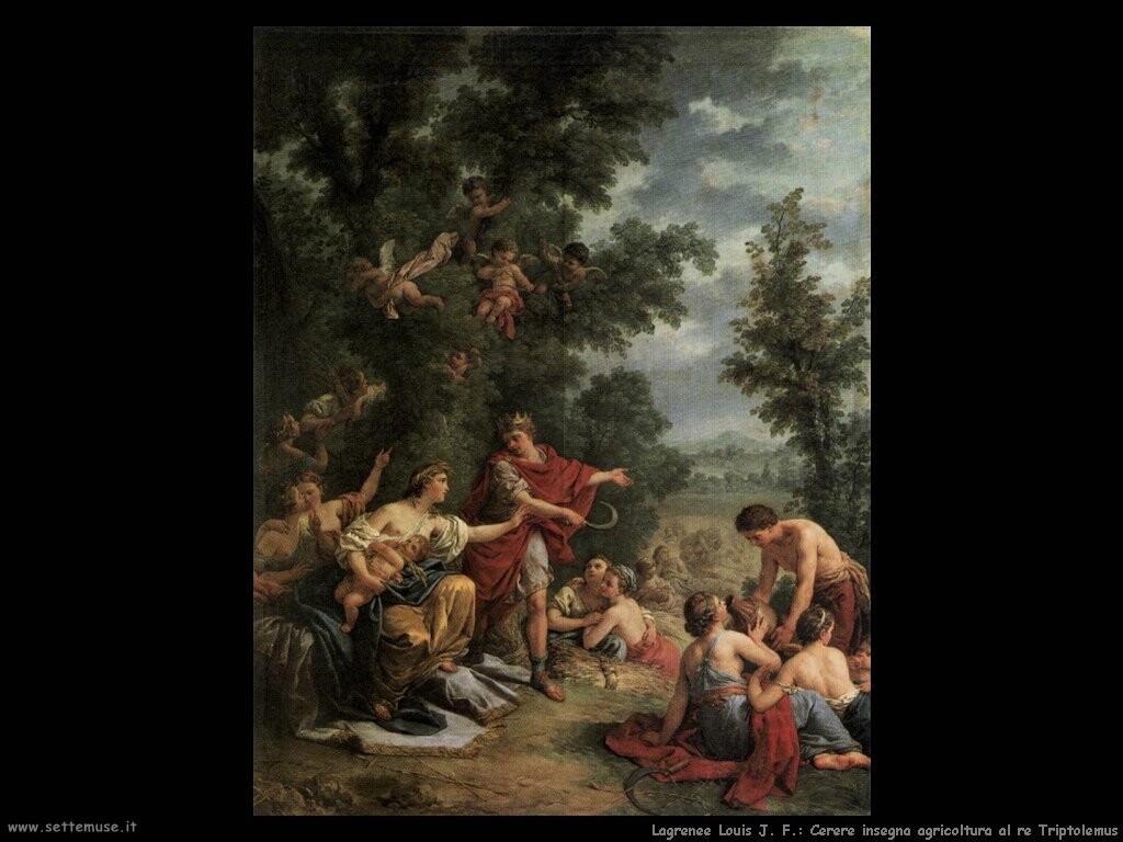 lagrenee louis jean francois  Cerere insegna agricoltura al re Triptolemus