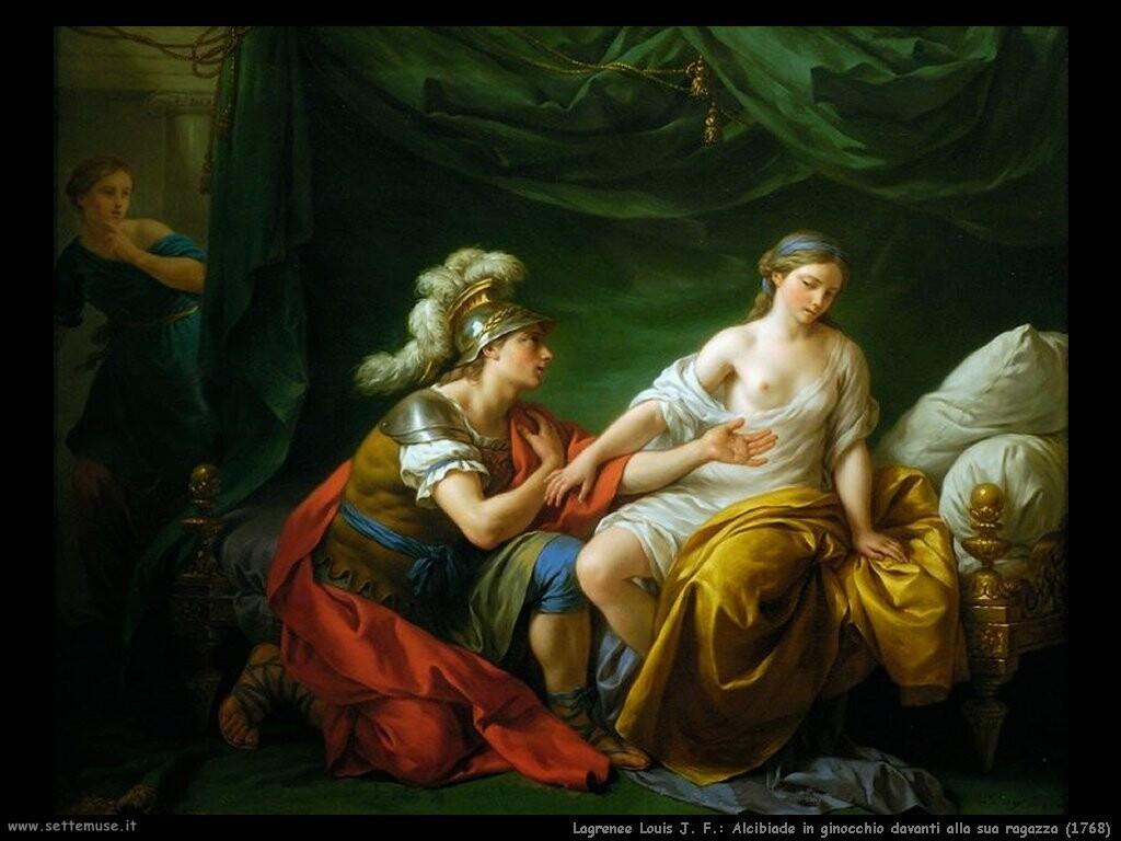 lagrenee_louis_jean_francois  Alcibiade in ginocchio davanti alla sua ragazza