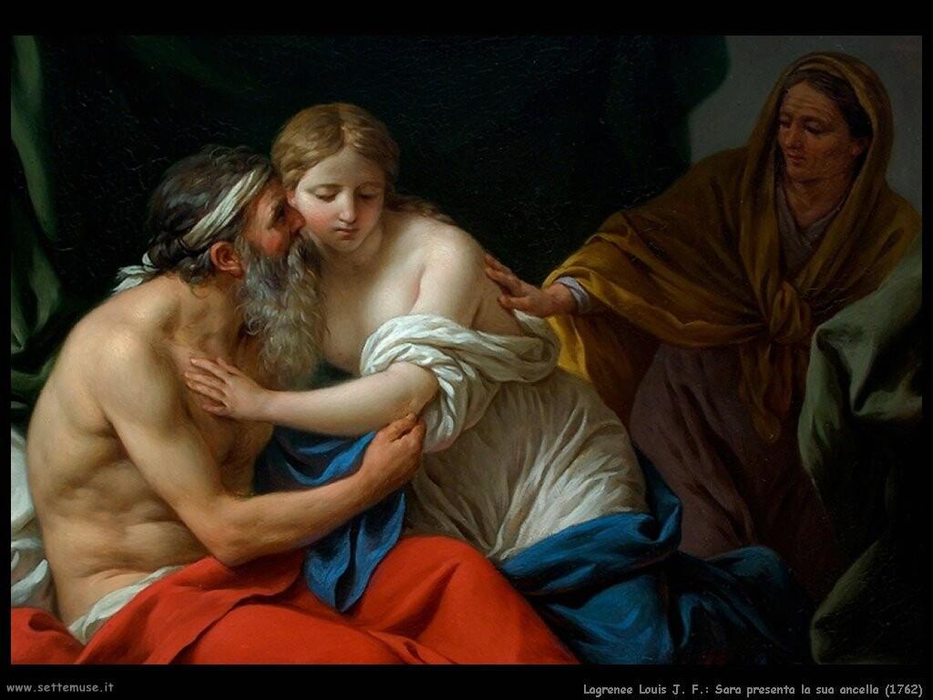 lagrenee_louis_jean_francois Sara presenta la sua ancella (1781)