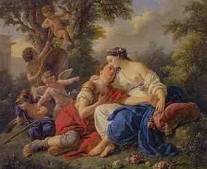 Pittura di Louis Jean Francois Lagrenee