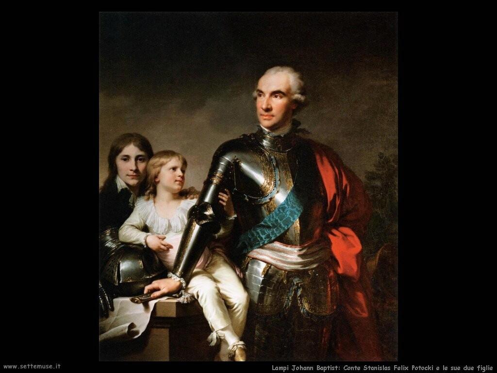 lampi_johann_baptist Conte Stanislas Felix Potocki coi suoi due figli