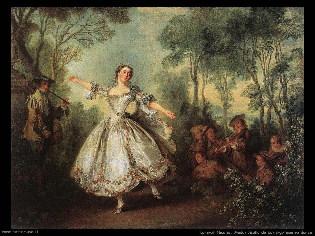 lancret_nicolas  Mlle de Camargo danzante