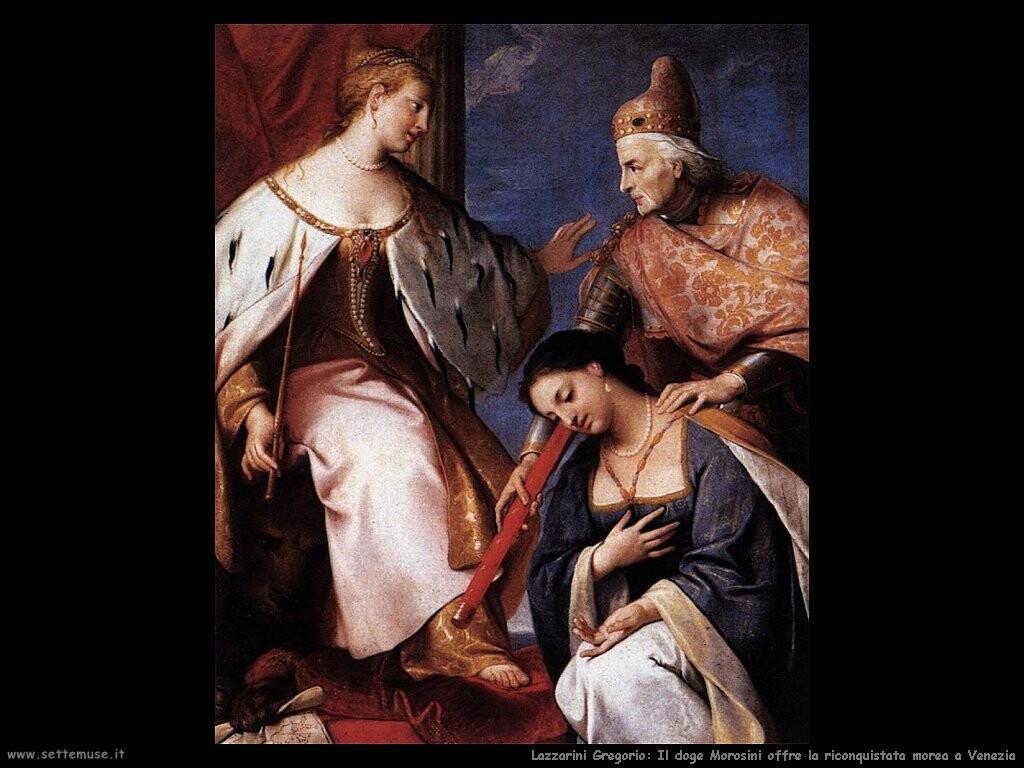 lazzarini_gregorio  Doge Morosini offre la riconquistata morea a Venezia