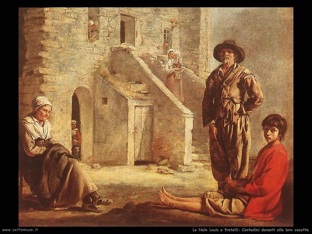 le_nain_brothers Paesani davanti la loro porta di casa