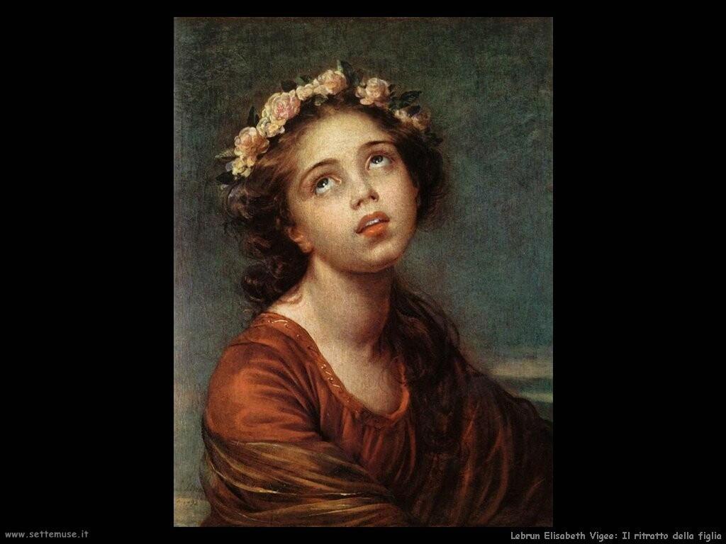 lebrun_elisabeth_vigee Ritratto della figlia