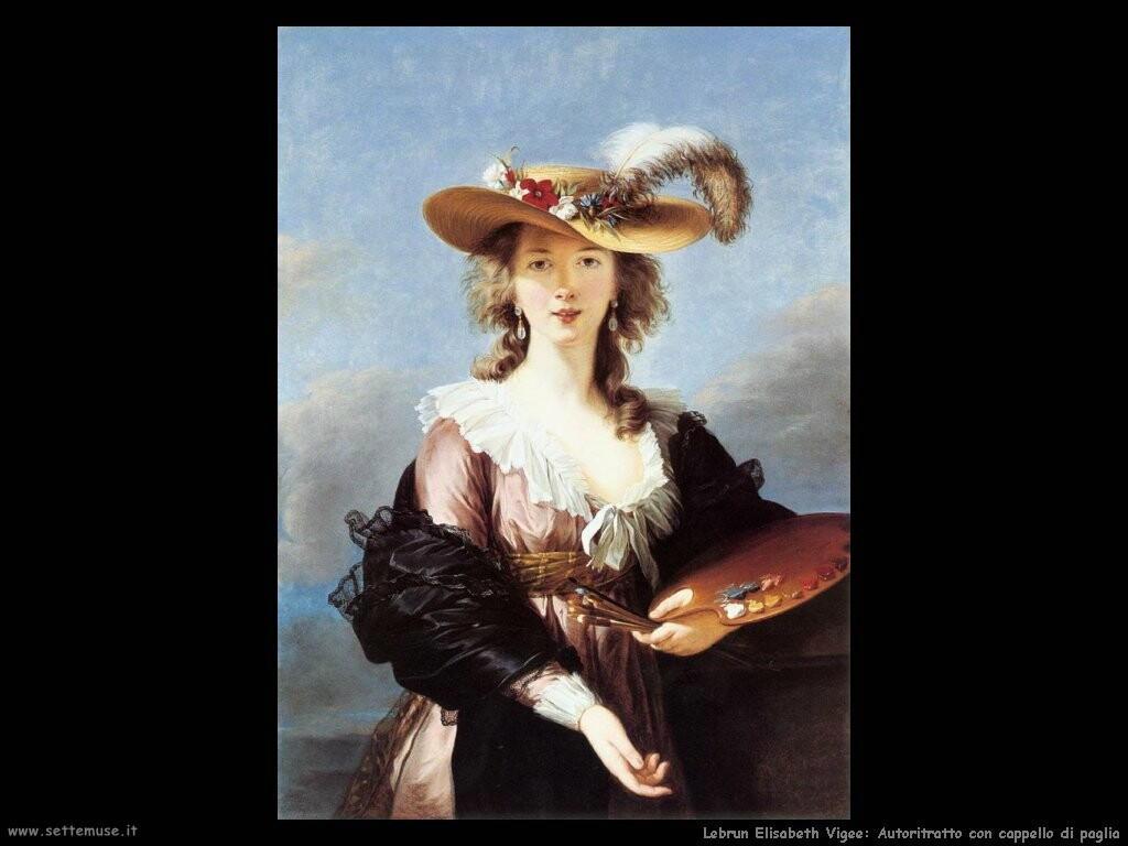 lebrun_elisabeth_vigee  Autoritratto con cappello di paglia