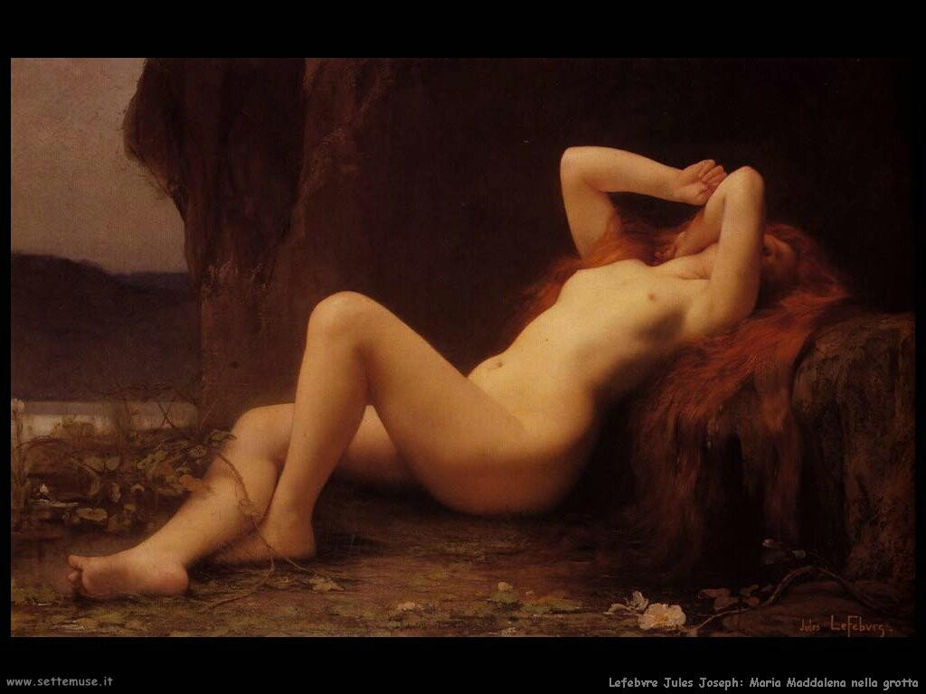 lefebvre jules_joseph maria_maddalena_nella_grotta