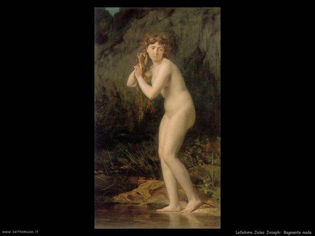 lefebvre jules joseph bagnante nuda