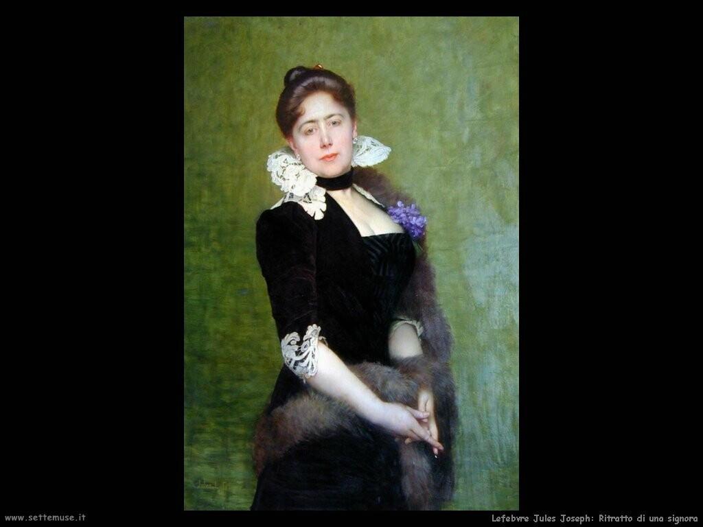 lefebvre jules joseph Ritratto di una signora