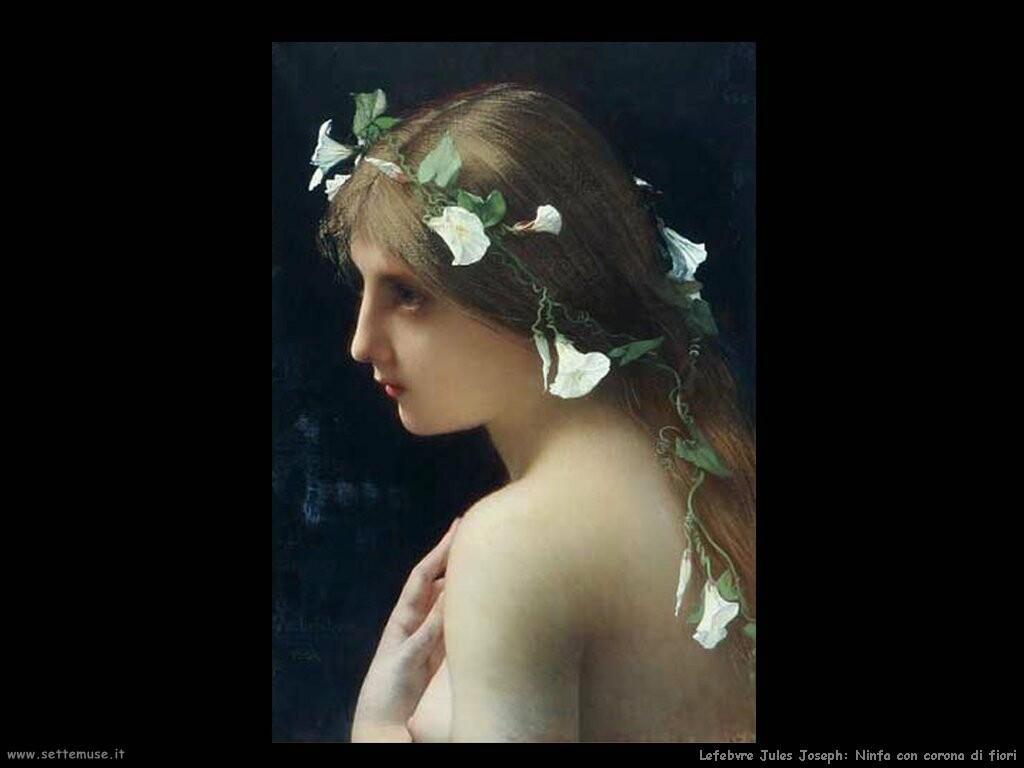 lefebvre jules joseph ninfa con corona di fiori