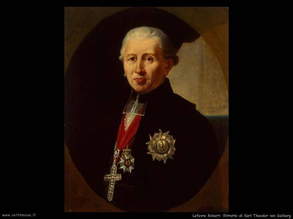 lefevre robert  Ritratto di Karl Theodor von Dalberg