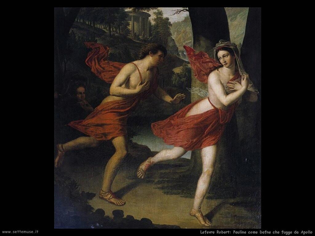 lefevre robert Paolina come Dafne che fugge da Apollo