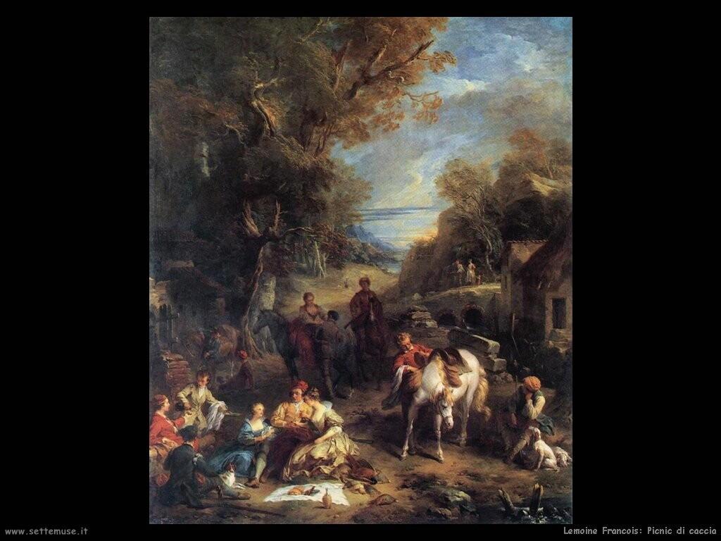 lemoine francois Picnic di cacciatori