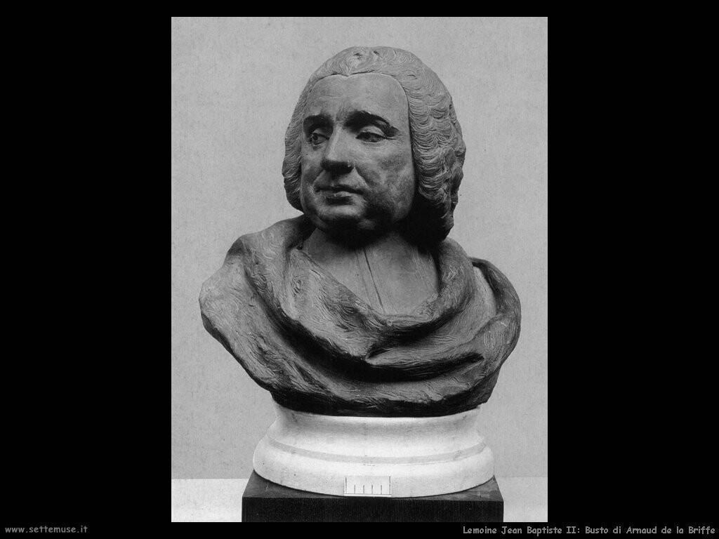 lemoine jean baptiste II Busto di Arnaud de la Briffe
