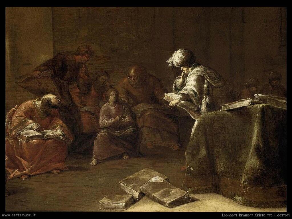 leonaert bramer Cristo tra i dottori