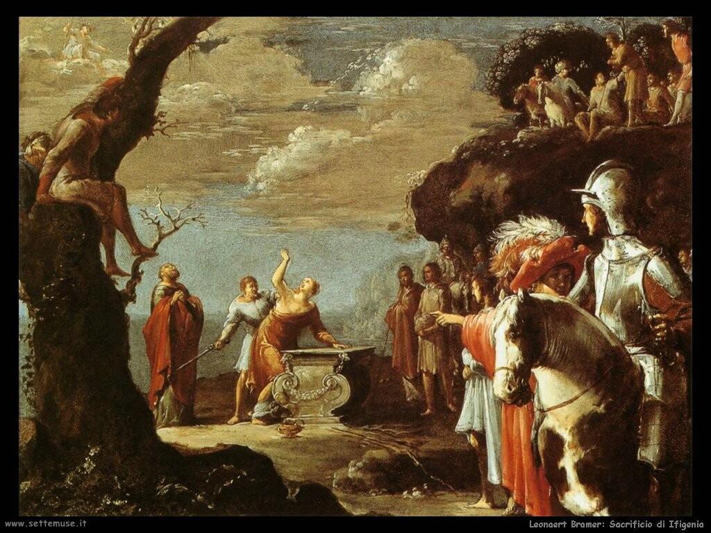 leonaert bramer Il sacrificio di Ifigenia