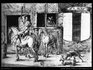 leonaert_bramer  Soldati e cavalli davanti la casa