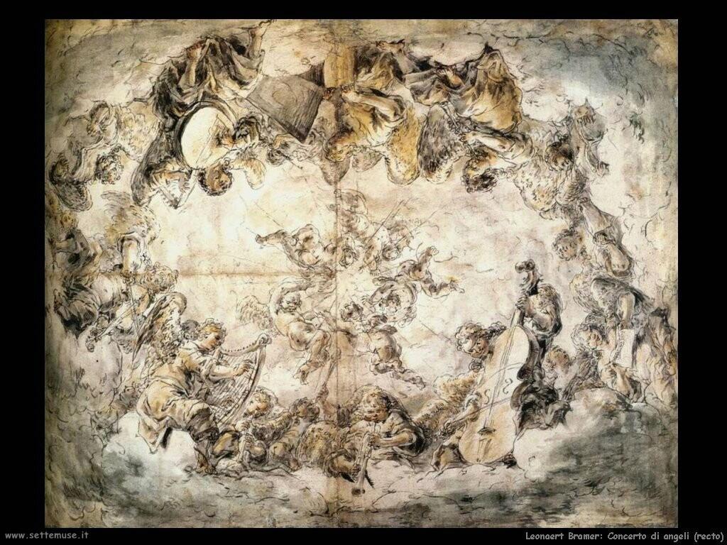 leonaert bramer Concerto degli angeli (recto)