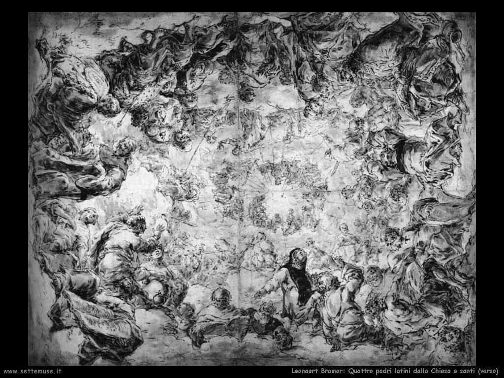 leonaert bramer Quattro padri latini della chiesa e santi (verso)