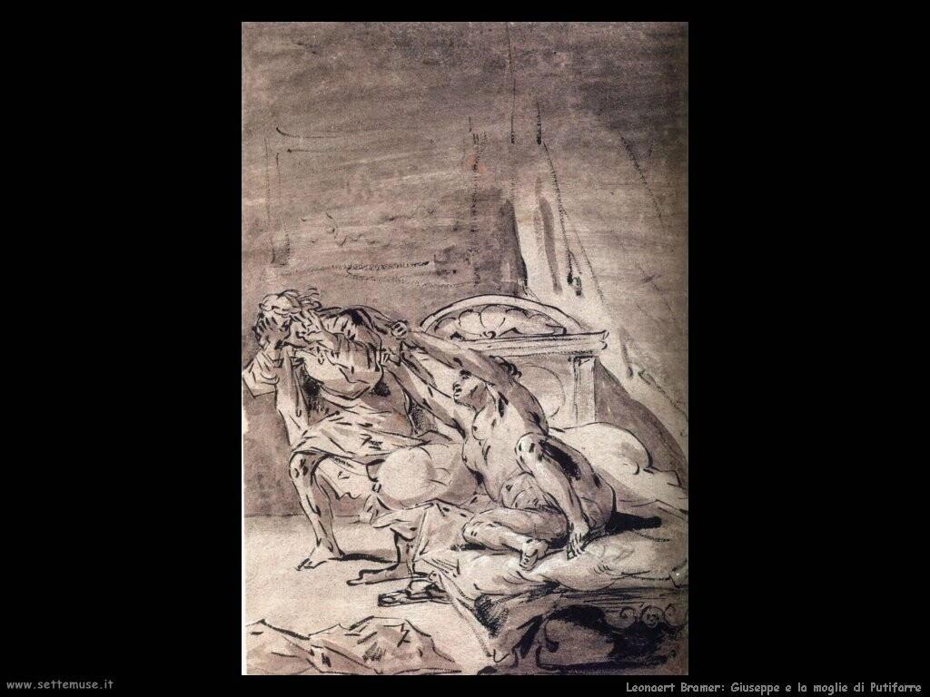 leonaert bramer Giuseppe e la moglie di Putifarre