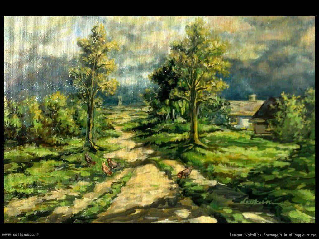 levkun_nataliia 021 paesaggio in villaggio russo