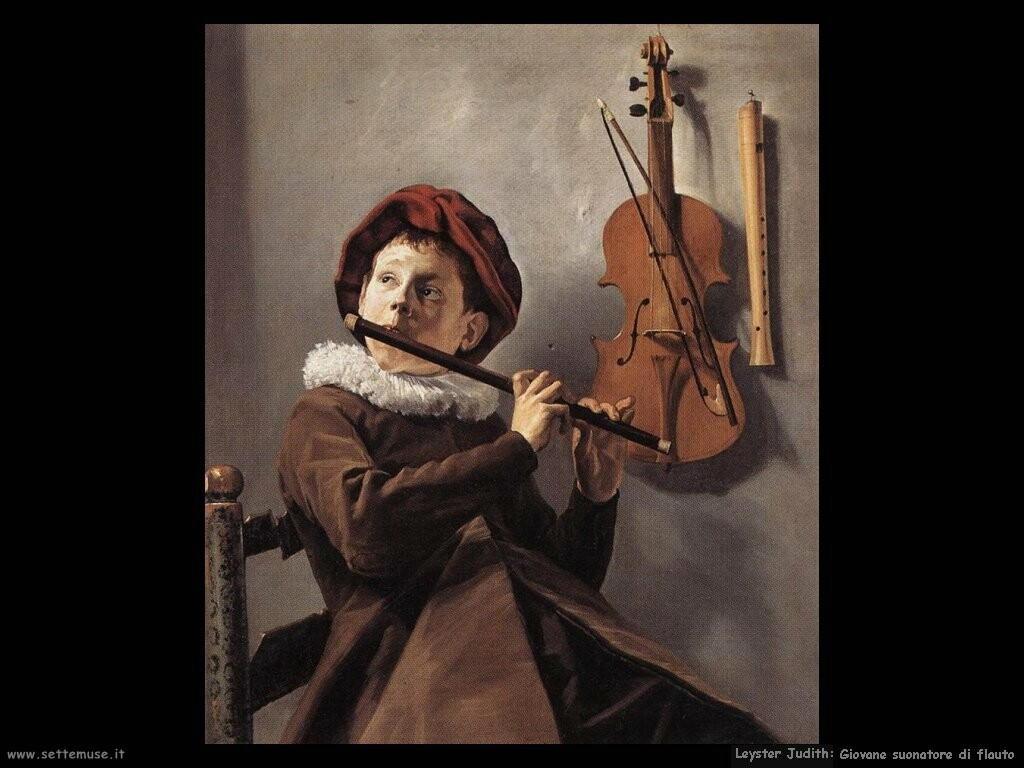leyster judith  Giovane con il flauto