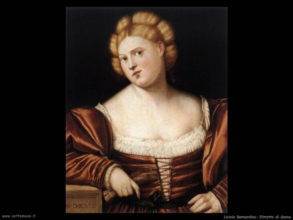 licinio_bernardino Ritratto di donna