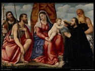 licinio_bernardino Sacra conversazione con donatori