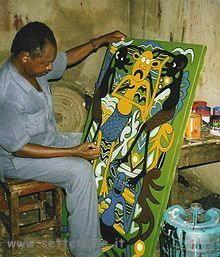 Lilanga George biografia e quadri