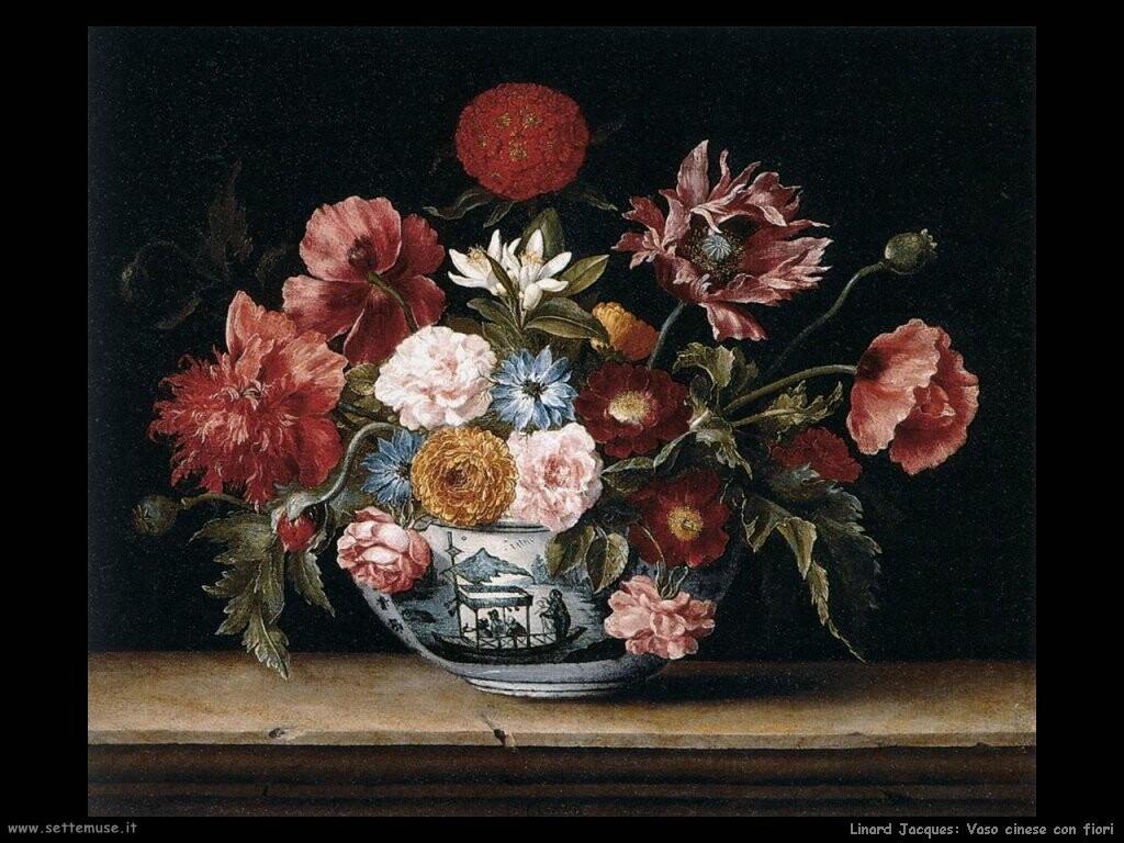 linard jacques  Vaso cinese con fiori
