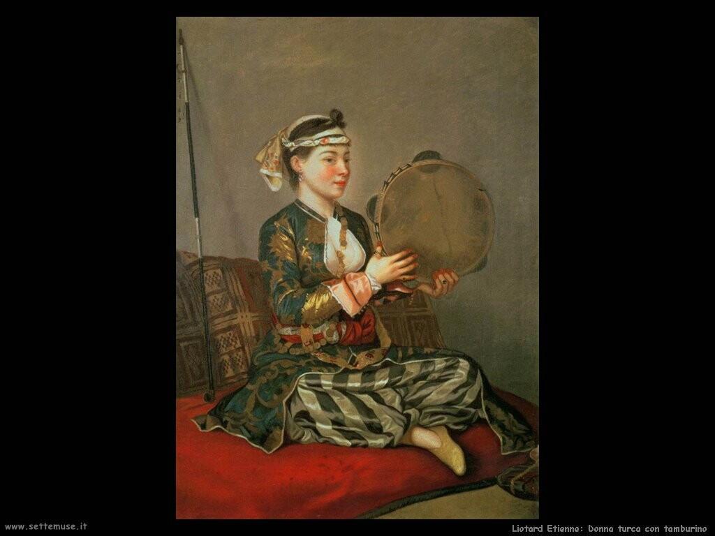liotard etienne  Donna turca con tamburino