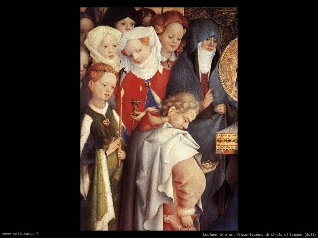 lochner stefan  Presentazione di Cristo al tempio (dett)
