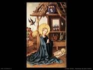 lochner_stefan  Adorazione del Gesù bambino