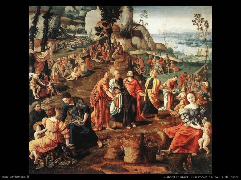 lombard lambert Il miracolo dei pani e dei pesci
