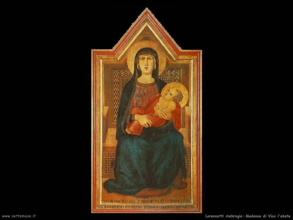 lorenzetti ambrogio  Madonna di Vico l'abate
