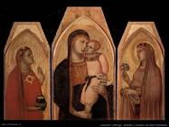 lorenzetti ambrogio  Madonna con bambino e Maria Maddalena