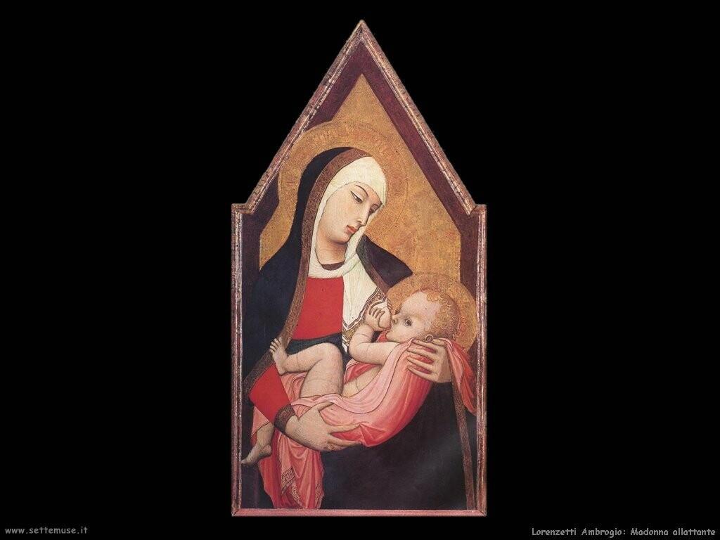 lorenzetti ambrogio  Madonna che allatta